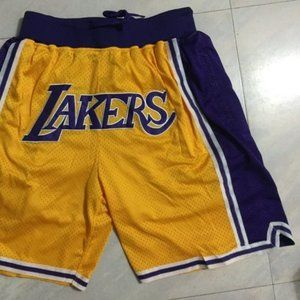 New Just Don Los Angeles Lakers Basketball Shorts